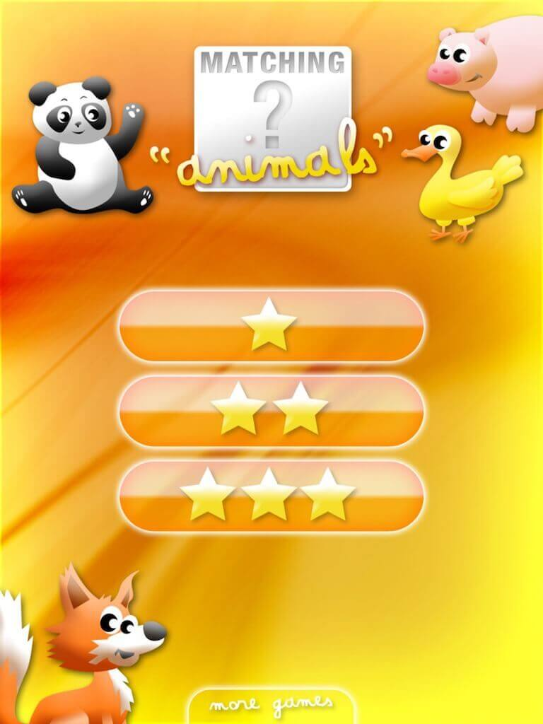 Animals' Matching for iPad 2-0