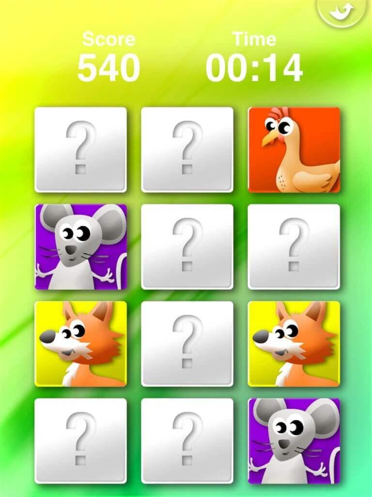 Animals' Matching for iPad 3-0